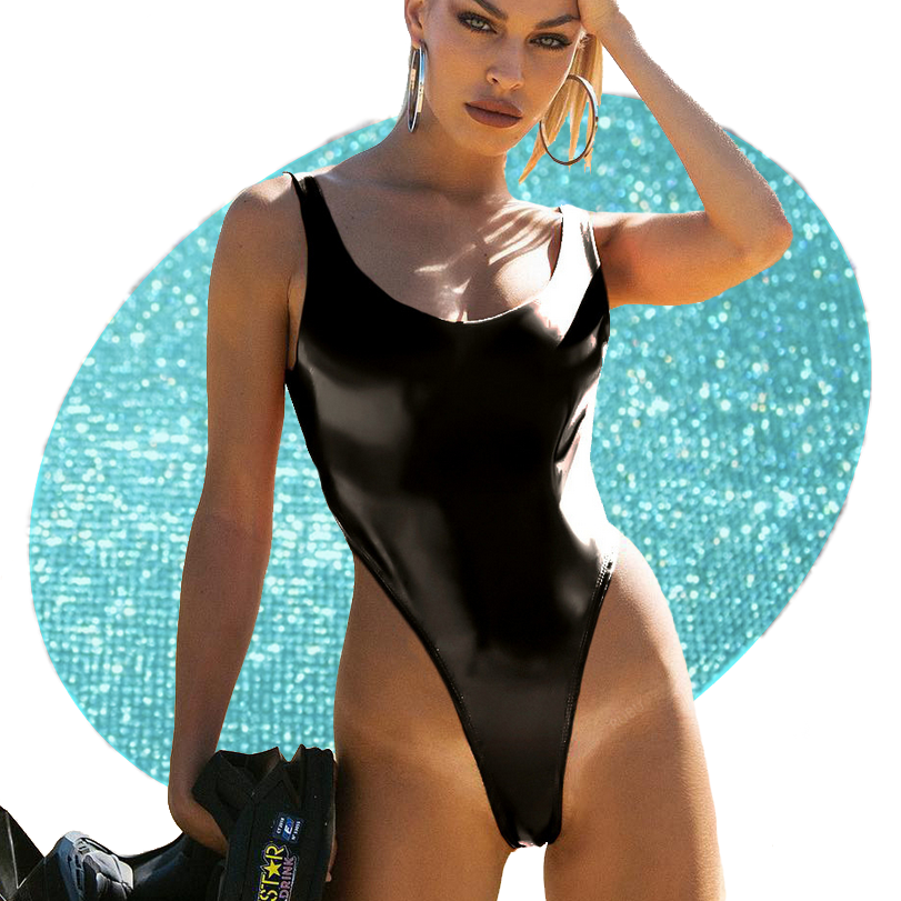 Vinyl High-cut Bodysuit
