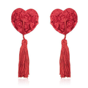 Lace Heart Tassel Pasties