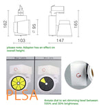 low glare invidiual dimmable fitting track h track brightgreen