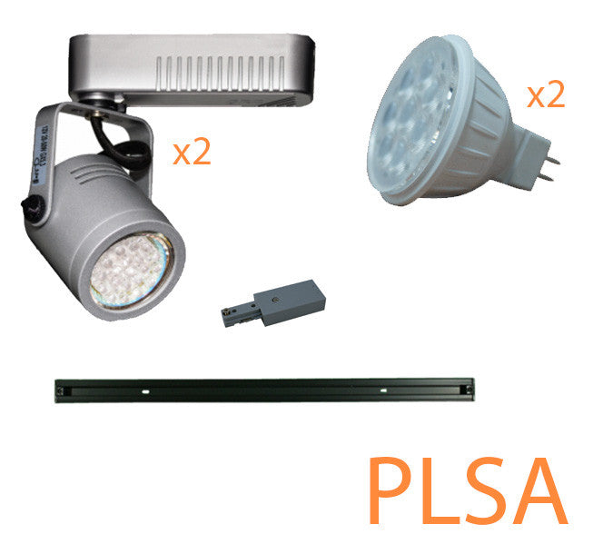 dimmable LED track light kit