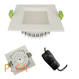 square downlight 3-in-1 round cutout 90mm 12w economic australia brisbane recessed face