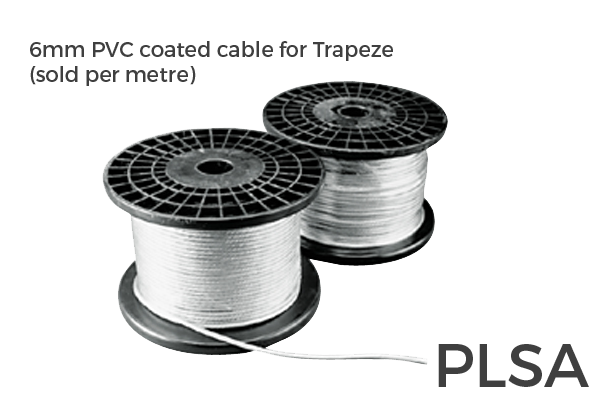 6mm PVC coated Trapeze Cable (Per M)