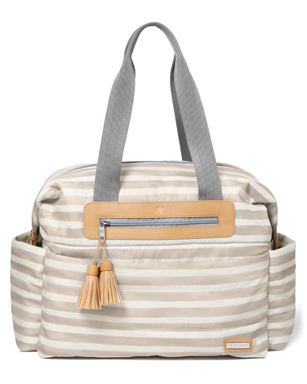 Riverside Ultra Diaper Satchel - Oyster Stripe