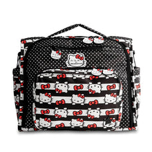 Load image into Gallery viewer, JU-JU-BE B.F.F. CONVERTIBLE BACKPACK - HELLO KITTY DOTS AND STRIPES