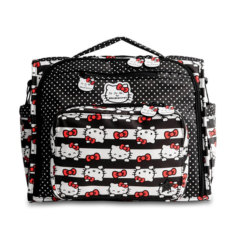 JU-JU-BE B.F.F. CONVERTIBLE BACKPACK - HELLO KITTY DOTS AND STRIPES