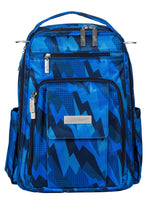 Load image into Gallery viewer, JU-JU-BE BE RIGHT BACK BACKPACK NAPPY BAG - BLUE STEEL