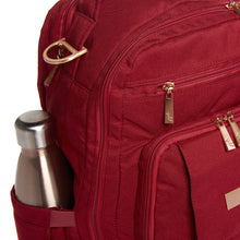 Load image into Gallery viewer, JU-JU-BE BE RIGHT BACK BACKPACK NAPPY BAG - CHROMATICS TIBETAN RED