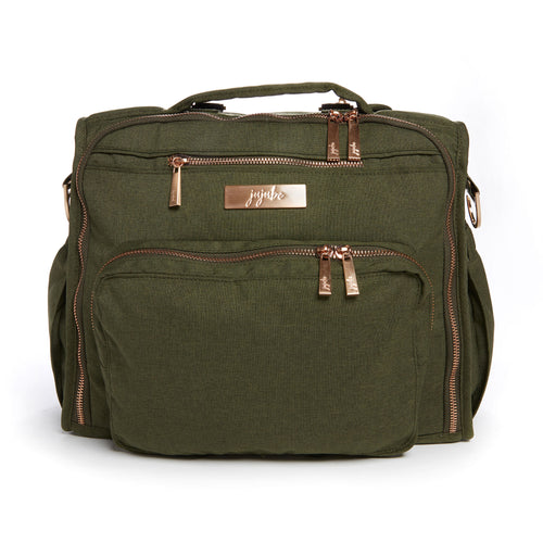 JU-JU-BE B.F.F. CONVERTIBLE BACKPACK - CHROMATICS OLIVE ROSE 2.0