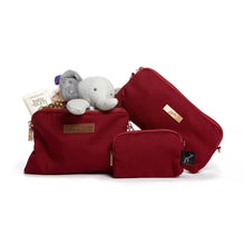 Load image into Gallery viewer, JU-JU-BE BE SET 3 BAGS - CHROMATICS TIBETAN RED