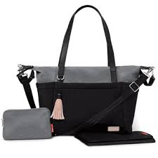 Skip Hop Neoprene Tote - Black/Grey