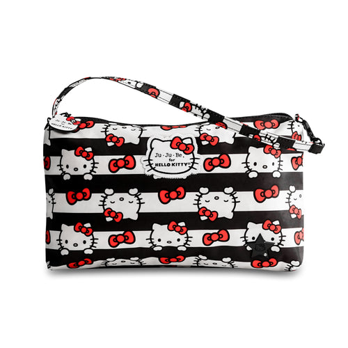 JU-JU-BE BE QUICK CLUTCH - HELLO KITTY DOTS AND STRIPES