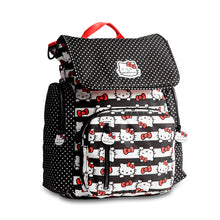 Load image into Gallery viewer, JU-JU-BE BE SPORTY CONVERTIBLE BACKPACK - HELLO KITTY DOTS AND STRIPES