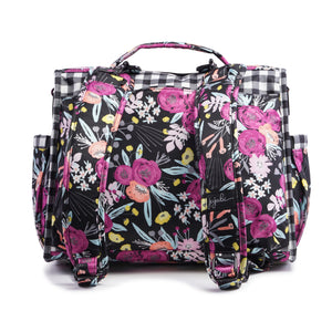 JU-JU-BE B.F.F. CONVERTIBLE BACKPACK - GINGHAM BLOOM