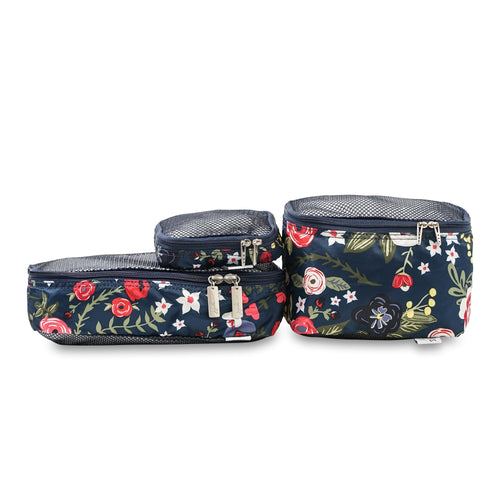 JU-JU-BE BE ORGANISED PACKING CUBES - MIDNIGHT POSY