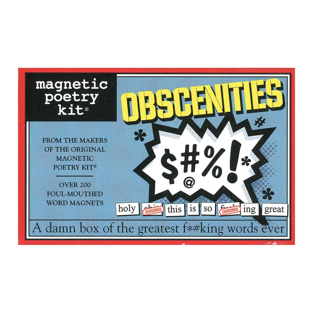 Magnetic Poetry Kit: Obscenties - Casual Toys