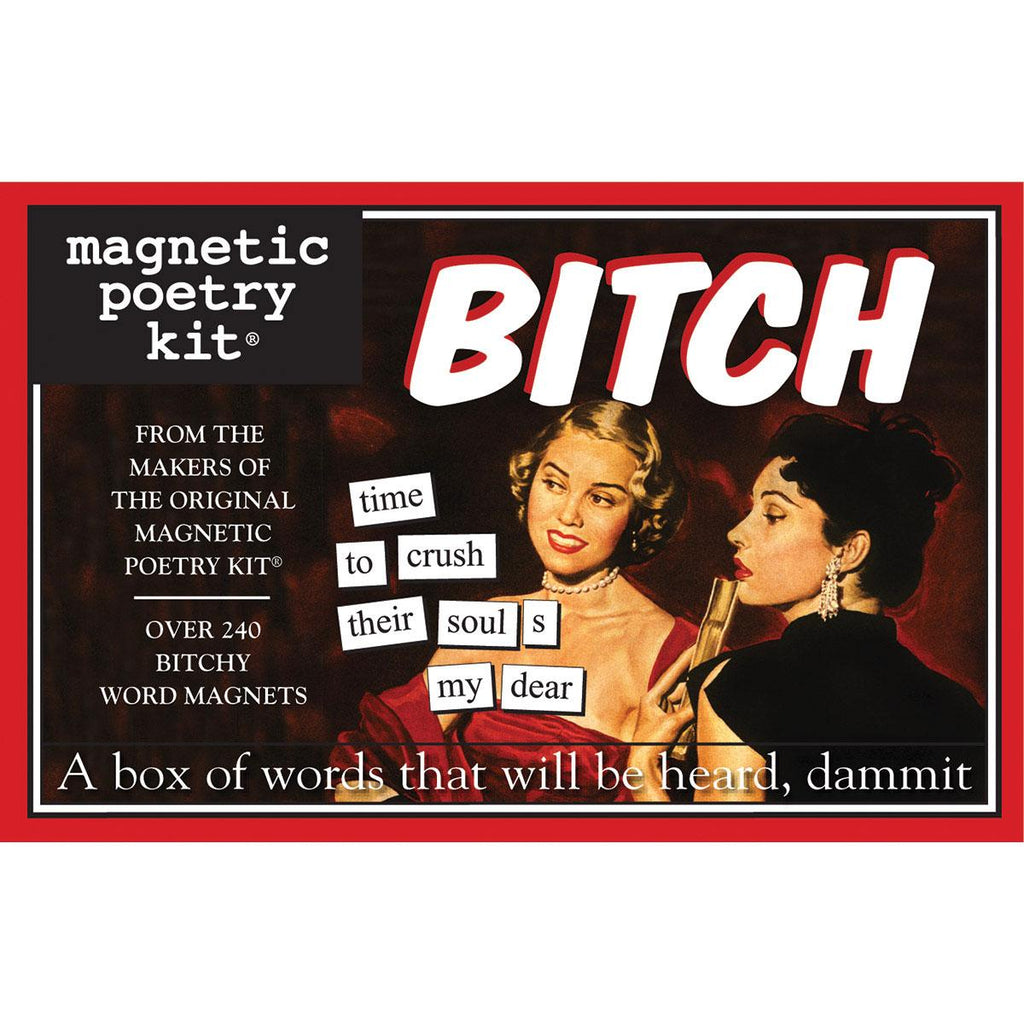 Magnetic Poetry Kit: Bitch Edition - Casual Toys