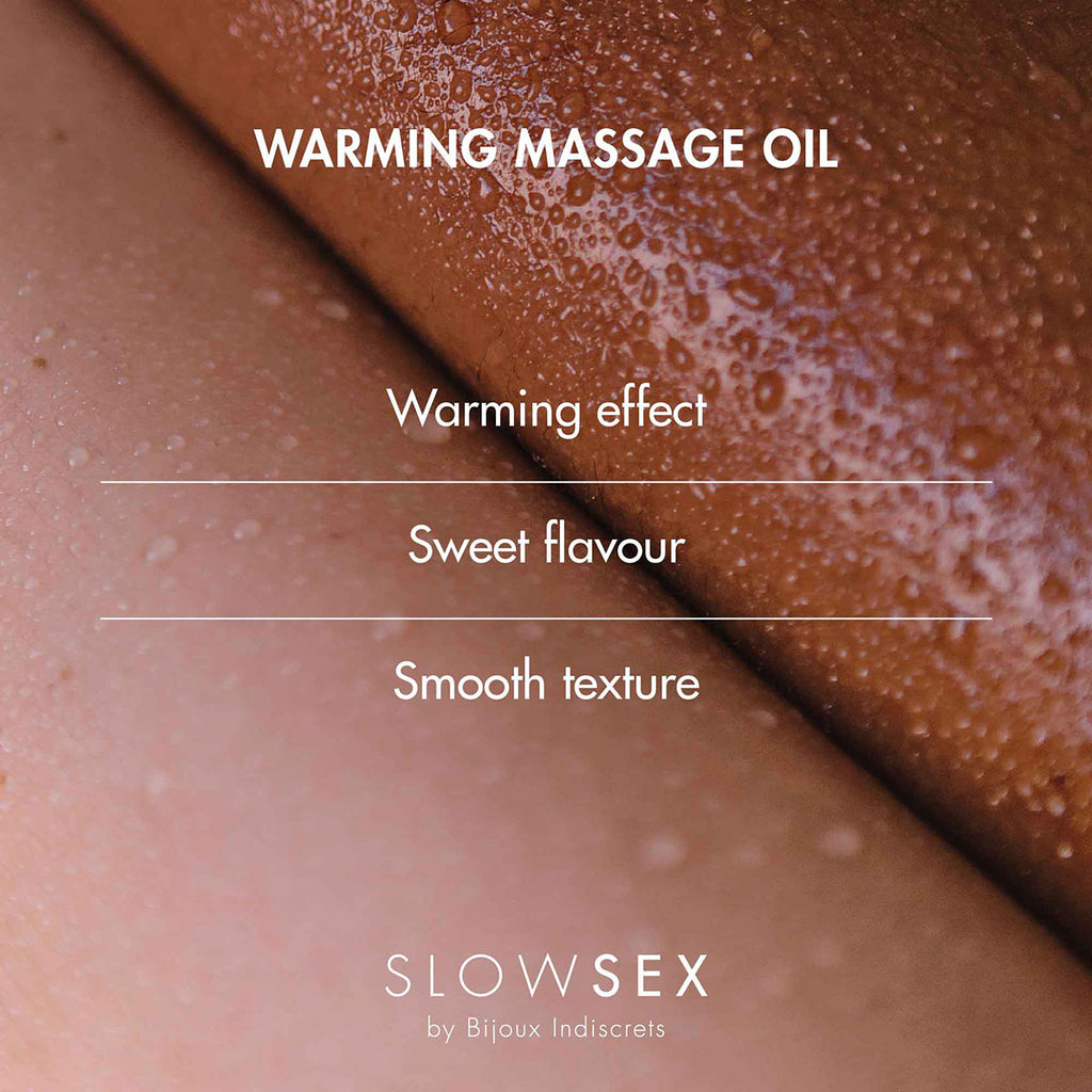 Bijoux Indiscrets Slow Sex Warming Massage Oil 1.69oz - Casual Toys
