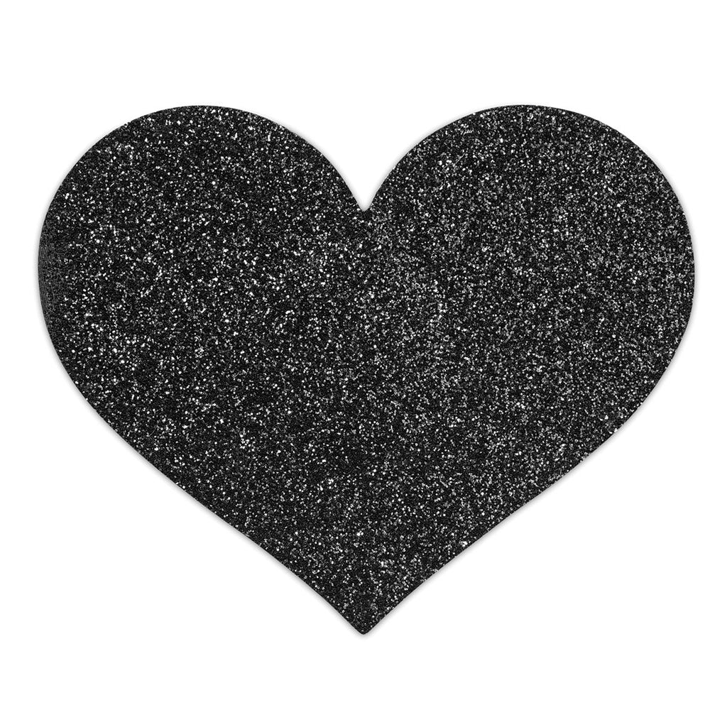 Bijoux Indiscrets Flash Pastie - Heart Black - Casual Toys