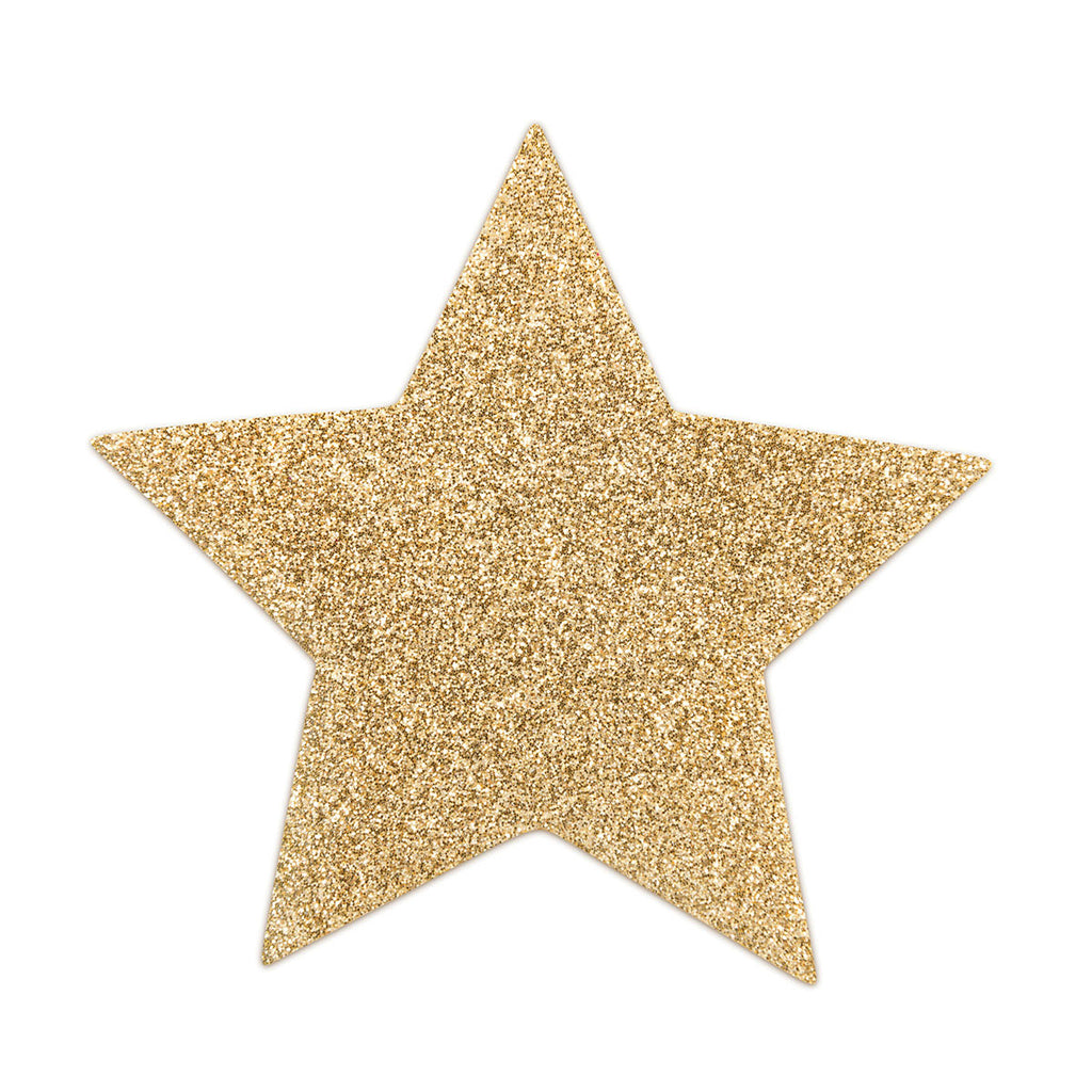 Bijoux Indiscrets Flash Pastie - Star Gold - Casual Toys