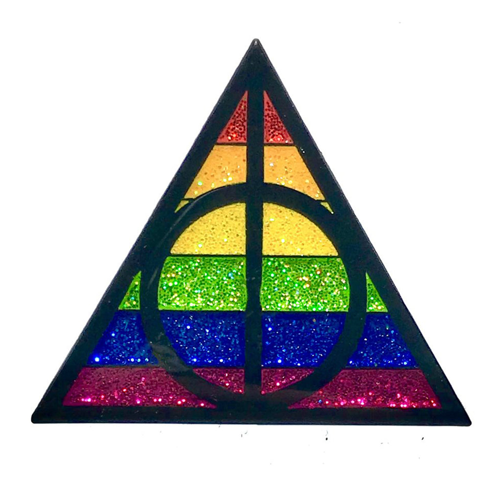Geeky & Kinky Pride Triangle POTTER Pin - Casual Toys