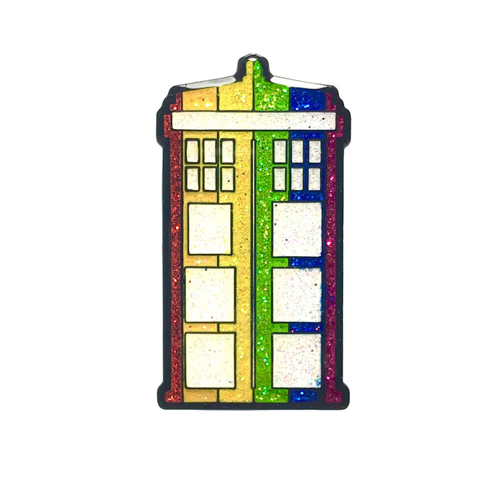 Geeky & Kinky Pride Phonebooth WHO Pin - Casual Toys