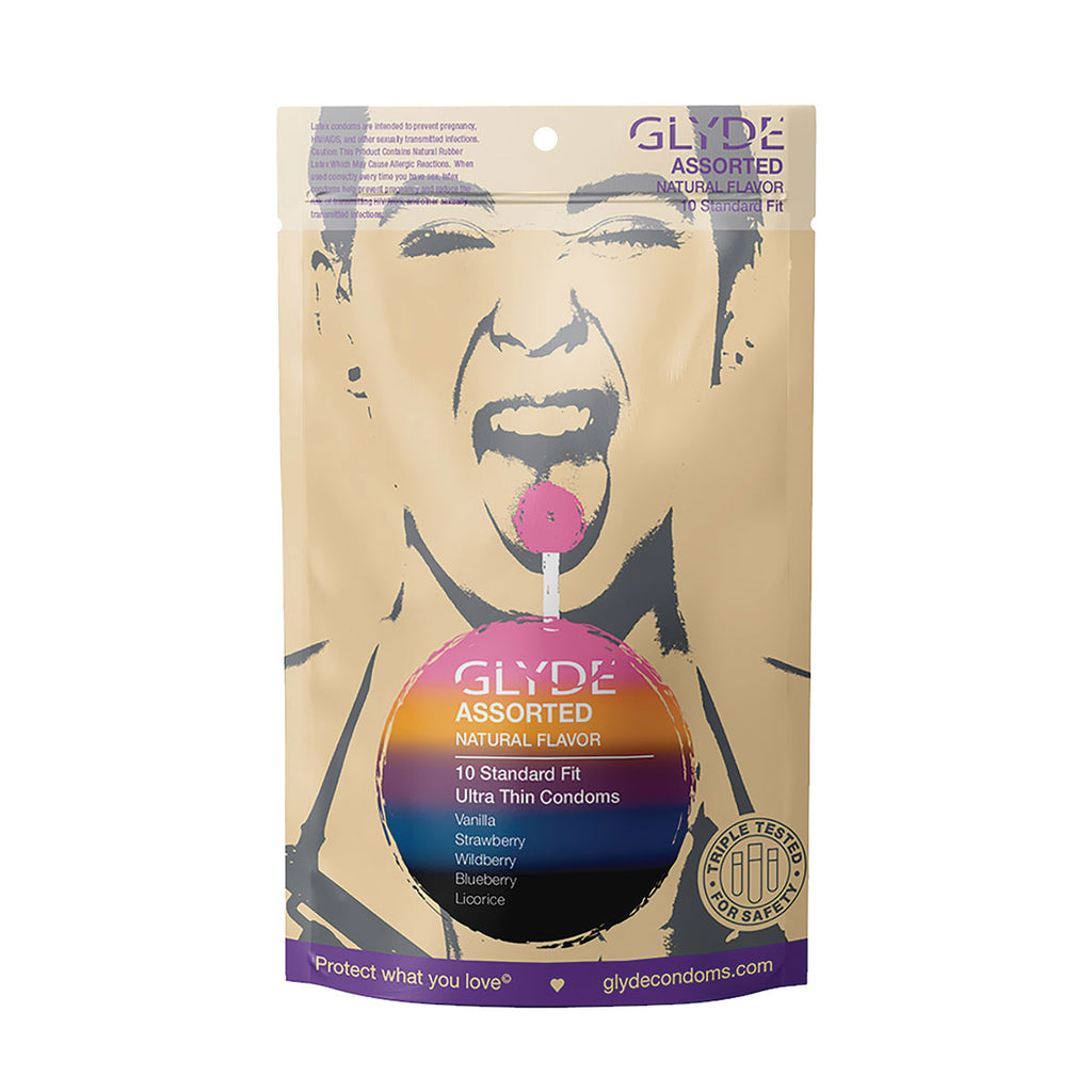 Glyde Ultra Condoms Organic Assorted Flavors 10pk
