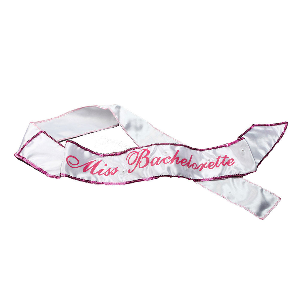 Miss Bachelorette Pink Light Up Sash
