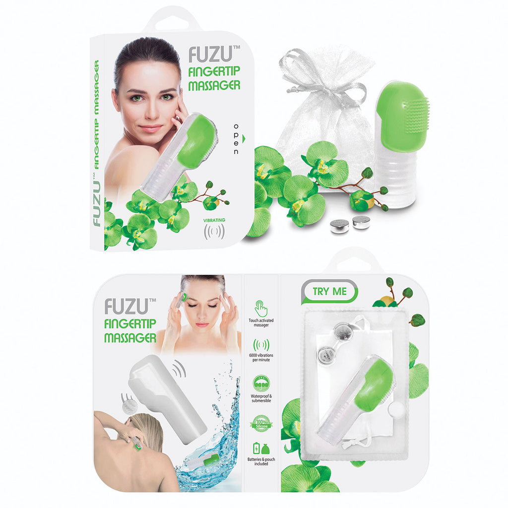 Fuzu Fingertip Massager - Green