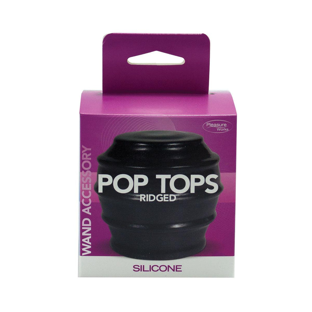 Pop Top Wand Attachment Ridged Black - Casual Toys