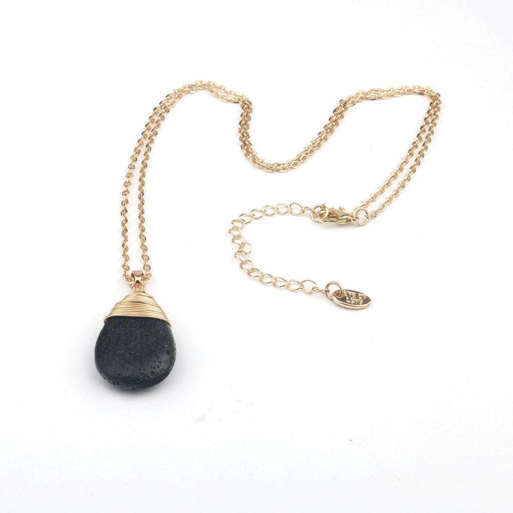 Eye of Love Drop Necklace - Gold - Casual Toys