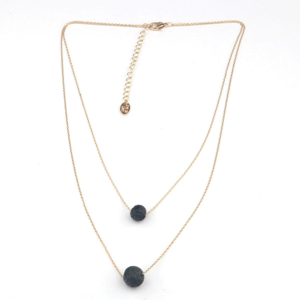 Eye of Love 2-Layer Necklace - Gold - Casual Toys