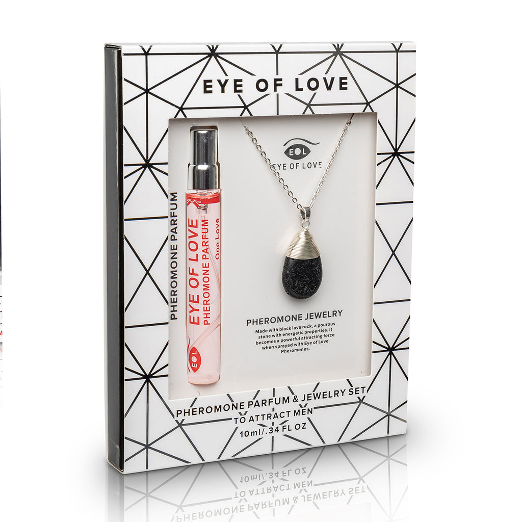 Eye of Love Drop Necklace - Silver - One Love 10ml