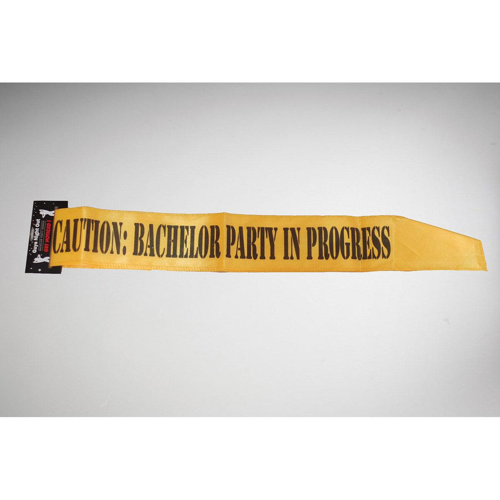 Caution: Bachelor Party in Progress Sash - Casual Toys