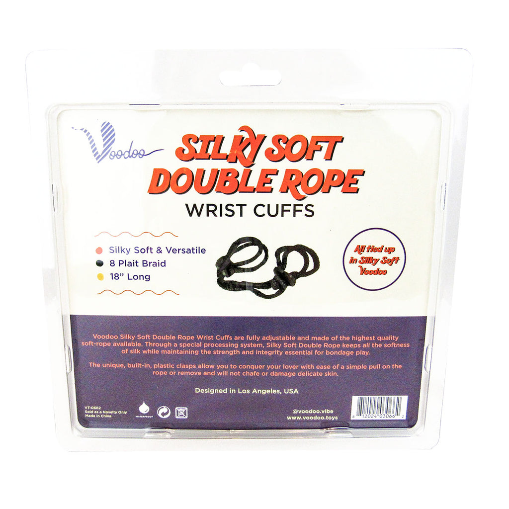 Voodoo Silky Soft Double Wrist Cuffs Black - Casual Toys