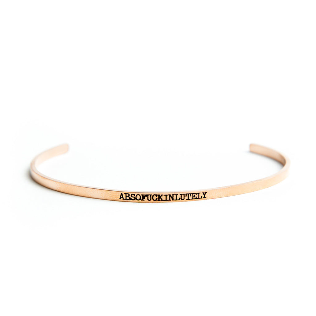 Twisted Wares Absofuckinlutely Bangle Rose Gold
