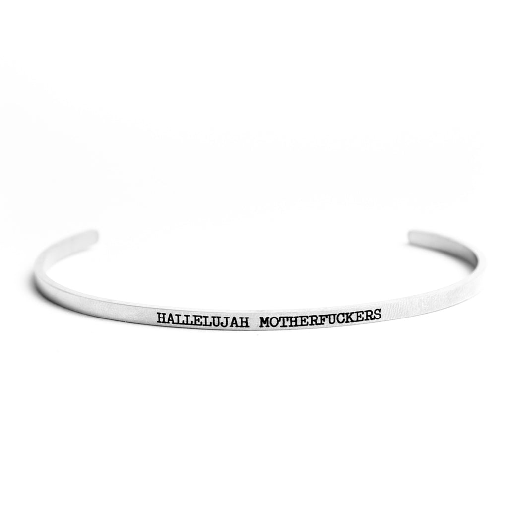 Twisted Wares Hallelujah MF's Bangle Stainless Steel