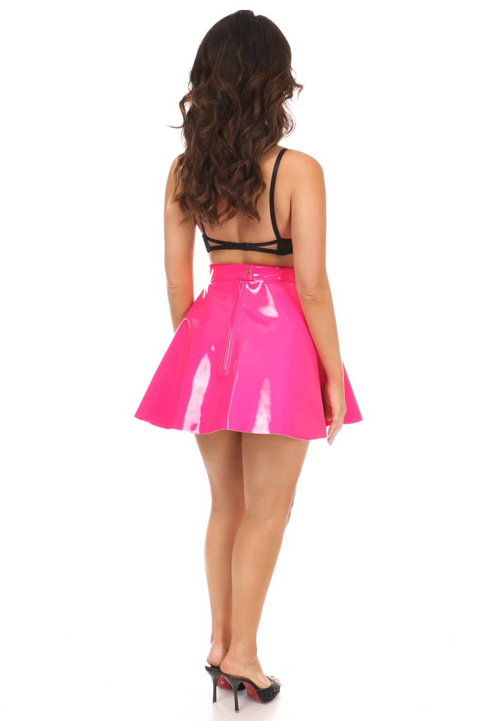 Hot Pink Patent Skirt - Casual Toys