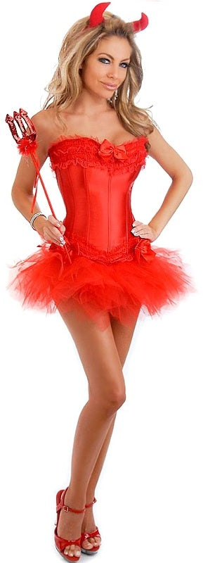 4 PC Sexy Devil Costume - Casual Toys
