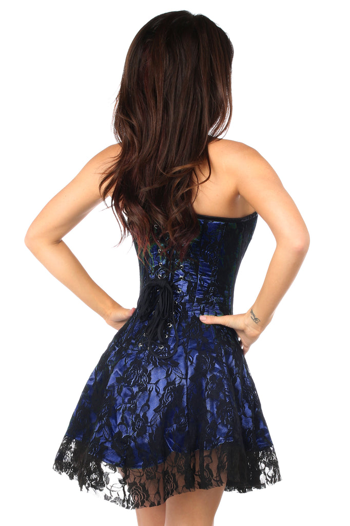 Lavish Blue Lace Corset Dress - Casual Toys