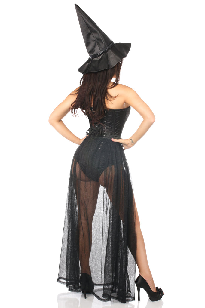 Lavish 3 PC Evil Witch Corset Costume - Casual Toys