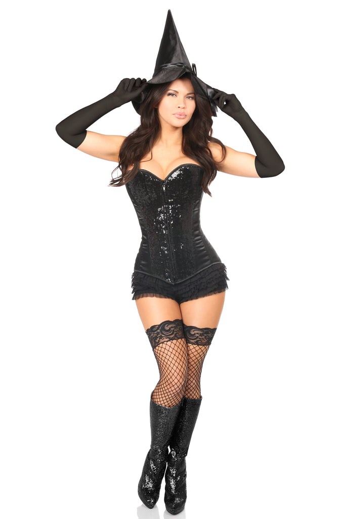 Top Drawer 4 PC Bad Witch Corset Costume - Casual Toys