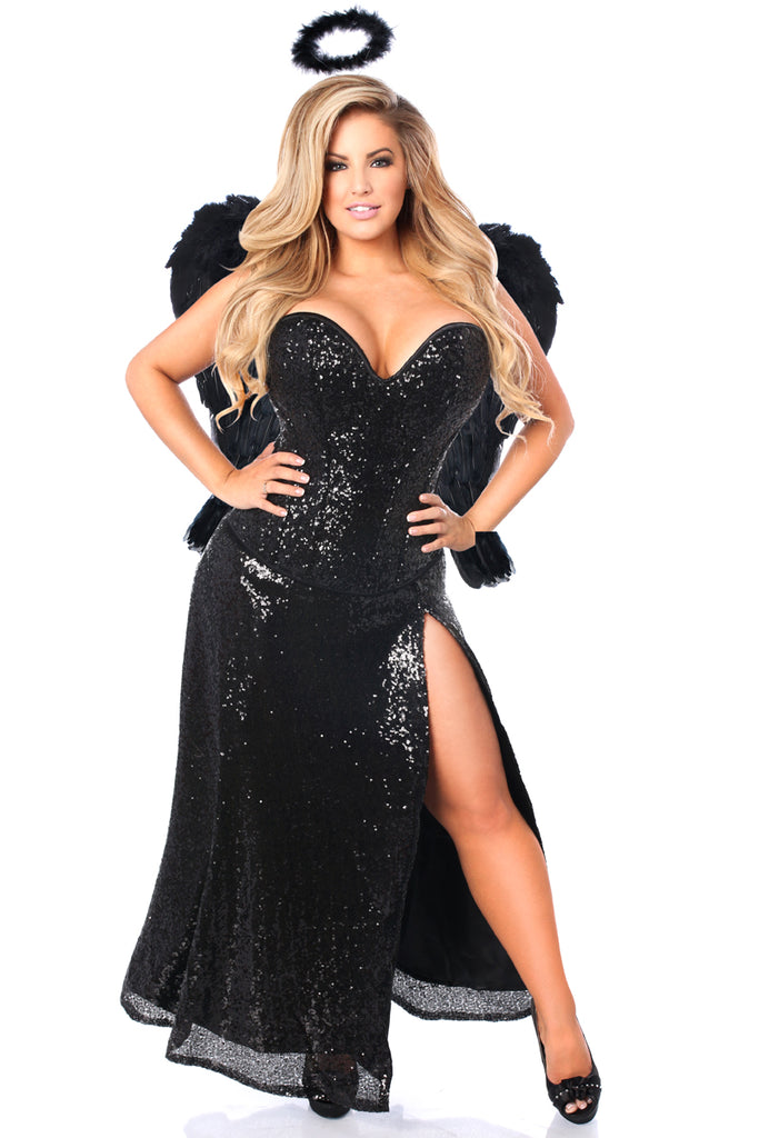 Top Drawer Premium Dark Angel Corset Costume - Casual Toys