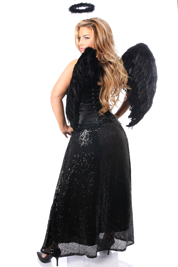 Top Drawer Premium Angel of Darkness Corset Costume - Casual Toys