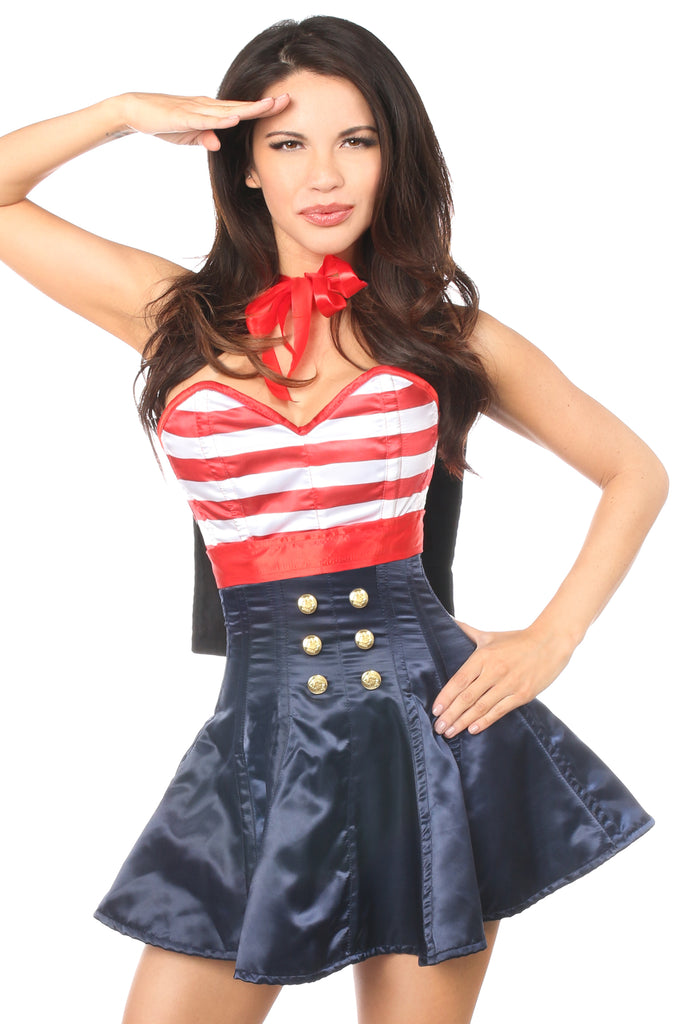 Top Drawer 2 PC Pin-Up Sailor Corset Dress Costume - Casual Toys