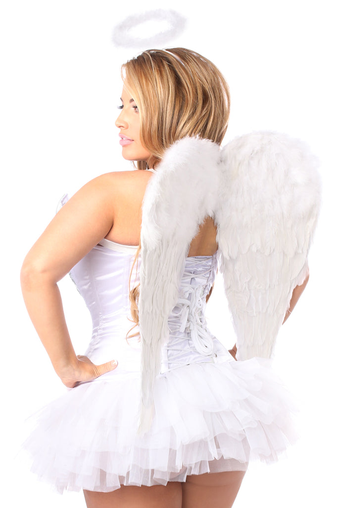 Top Drawer 4 PC Heavenly Angel Corset Costume - Casual Toys