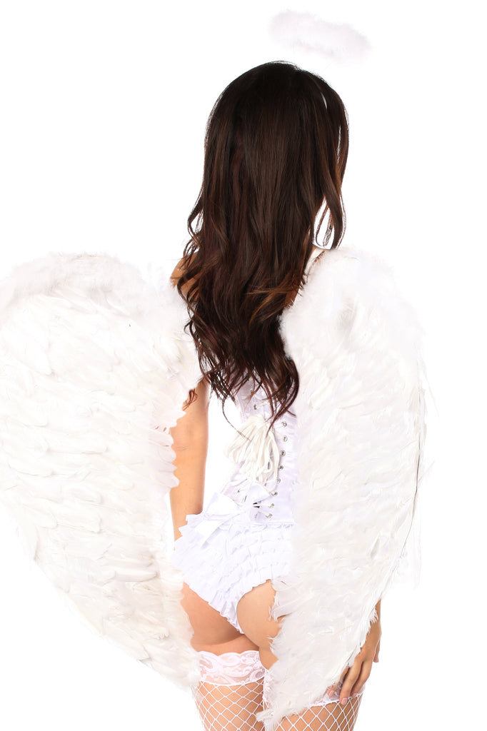 Top Drawer 4 PC Sweet Angel Corset Costume - Casual Toys