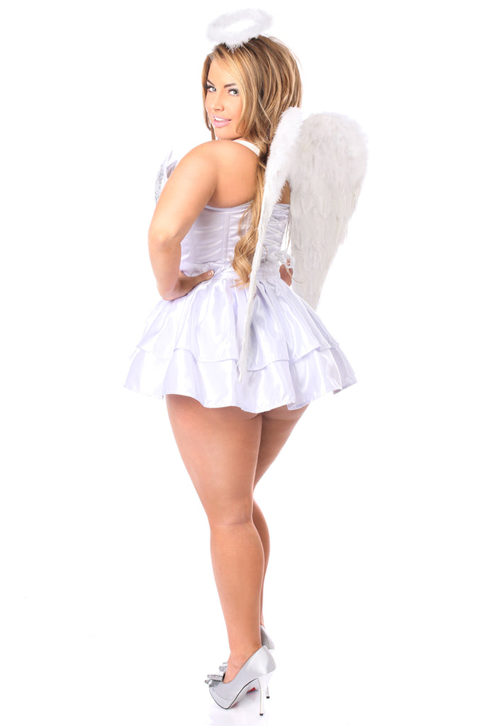 Top Drawer 4 PC Sequin Innocent Angel Corset Costume - Casual Toys