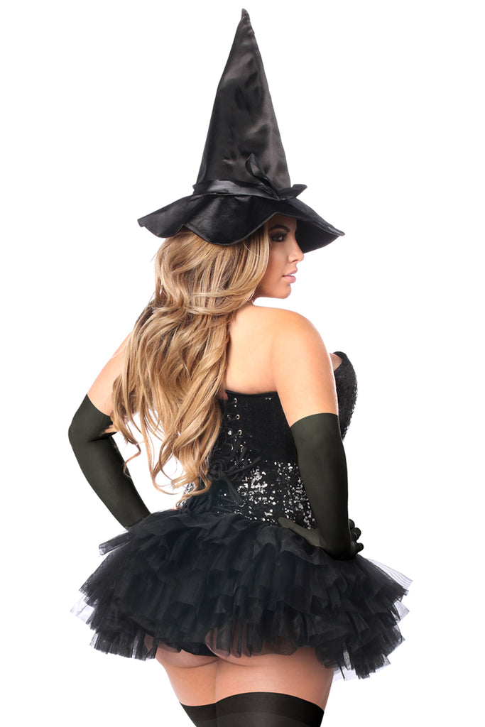 Top Drawer 4 PC Sexy Witch Corset Costume - Casual Toys