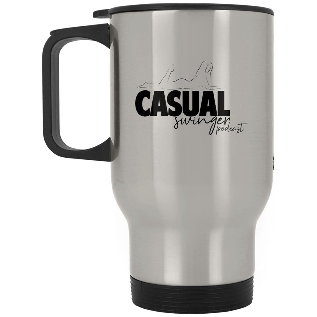 Casual Swinger Silver Stainless Travel Mug - Casual Toys