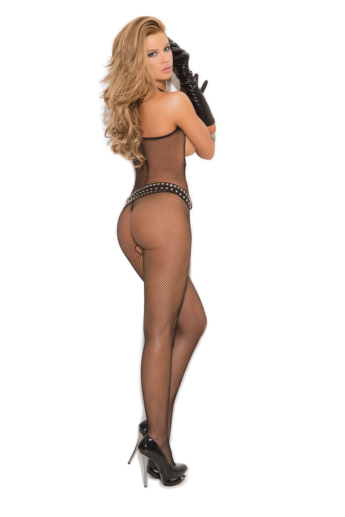 Open Bust Fishnet Bodystocking - Casual Toys